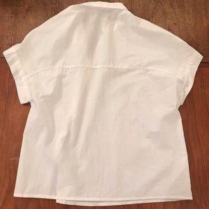 Zara Tops - Asymmetrical Cotton Buttondown Shirt
